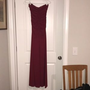 Nicole Miller strapless red gown. Worn once.